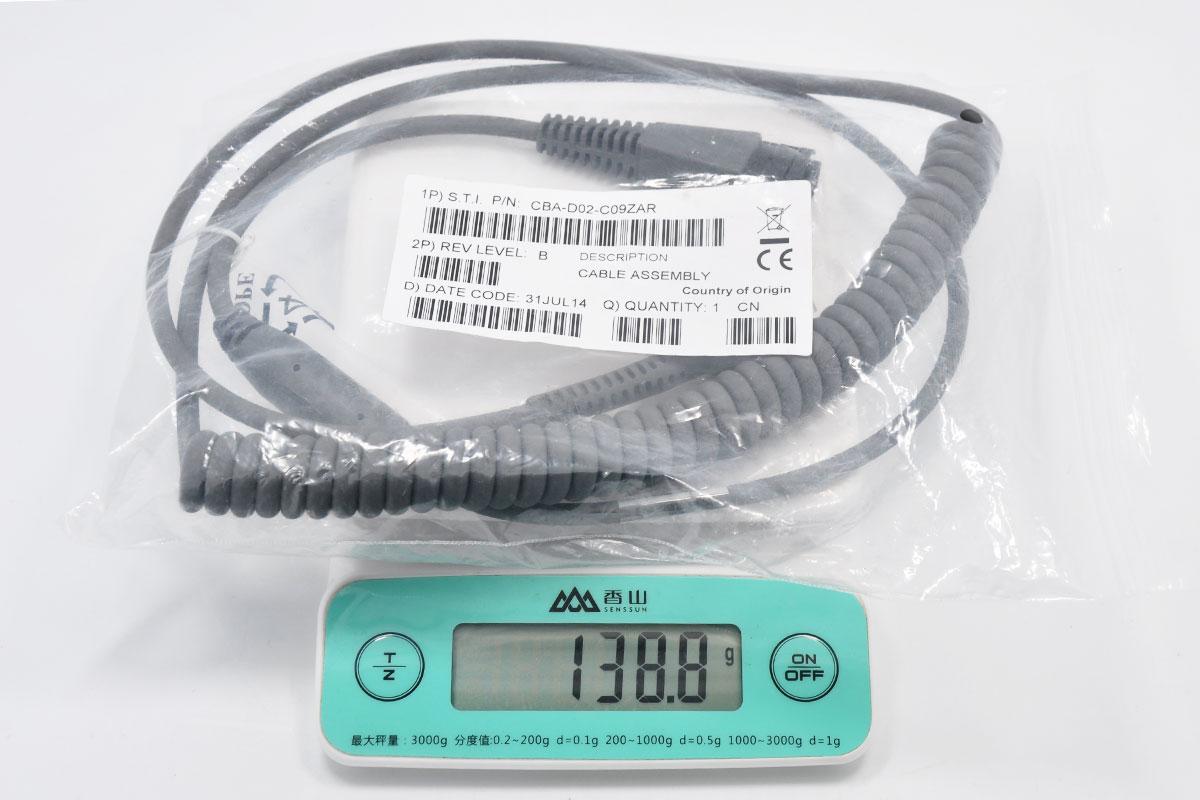 原装正品Symbol讯宝COM口数据线RS232 to RJ45 CBA-D02-C09ZAR 2米弹簧线