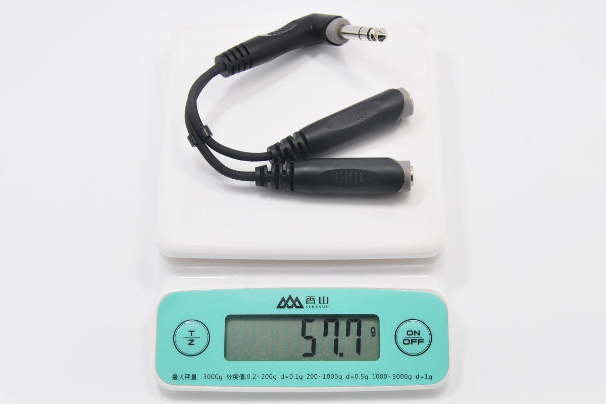 新到货一百多条6.5公转2个6.5母音频头6.35公一分二转接线 音频转接线立体声 20厘米