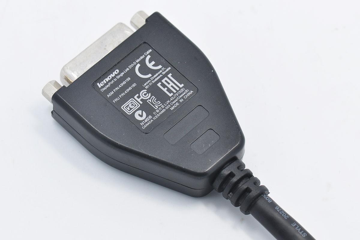 新到货联想DP转DVI  DP to DVI  DVI-D Adapter转接线43N9160 43N9159