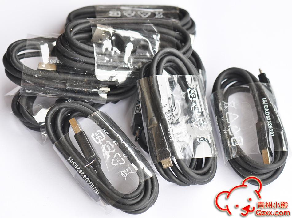 LG原装MicroUSB数据线充电线20AWG铜芯 可过4A大电流平板电脑充电线