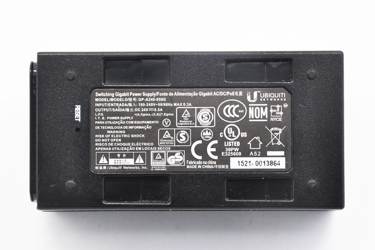 新到货117个UBNT原装24V0.5A POE 电源适配器GP-A240-050 千M POE供电模块带reset远程复位