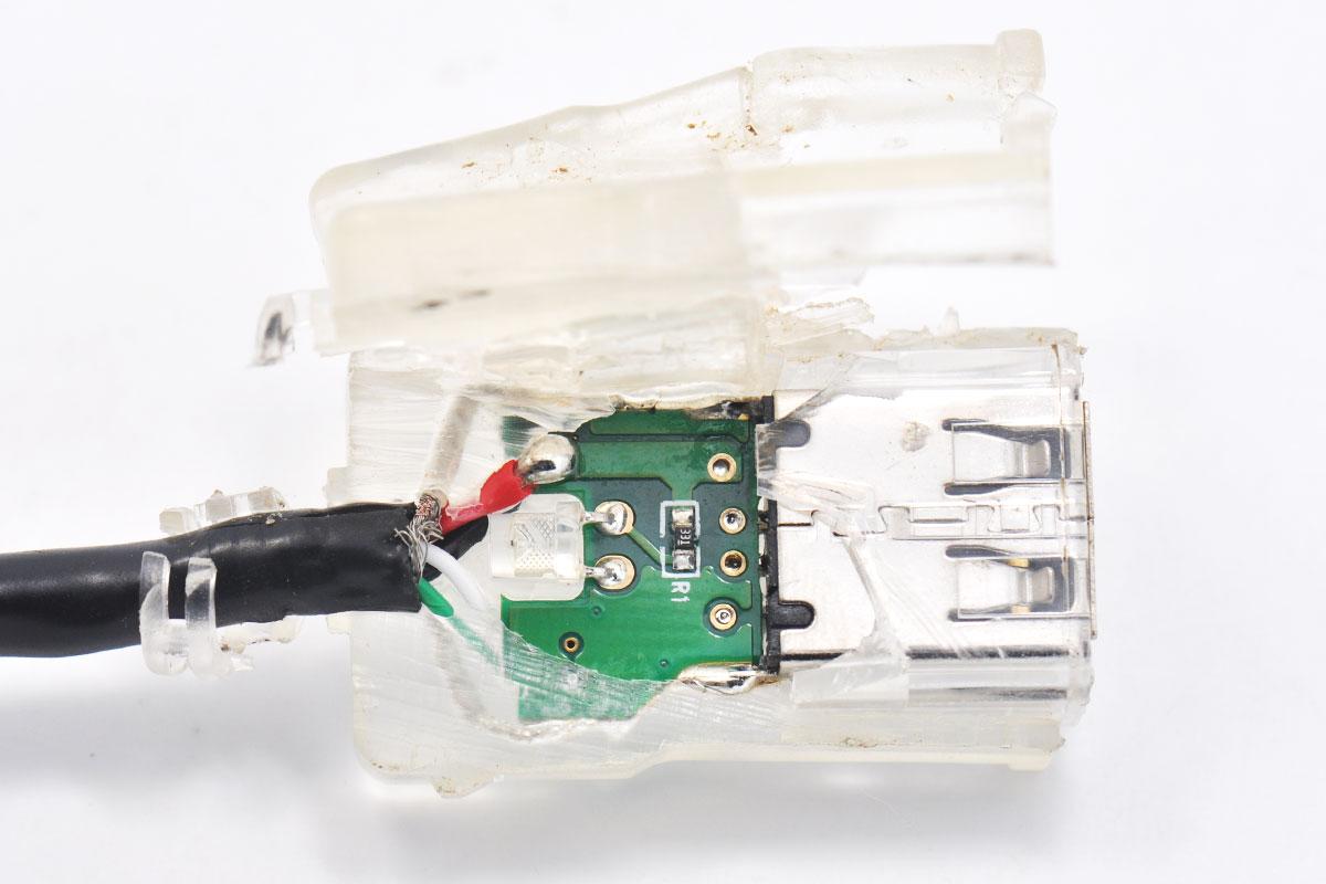 原装带指示灯TESLA特斯拉MODEL S/X/3汽车音响U盘转接头T口梯形转换器mini-b MiniUSB