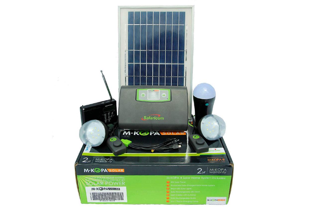 新到货57片M-KOPA公司多晶太阳能电池板12V8W充12V电瓶充电LED灯线长6米带插头GP-08P-18