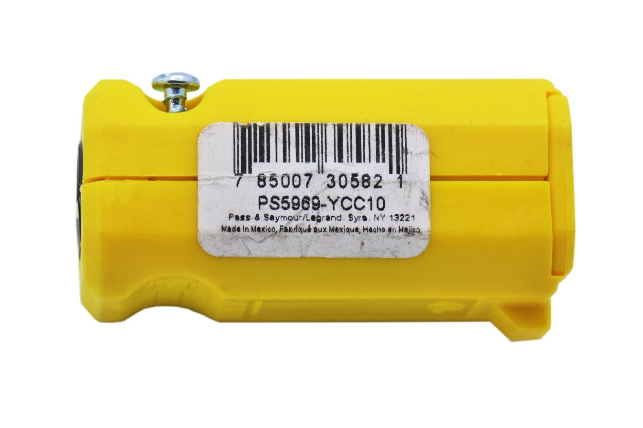 新到货600个墨西哥产原装Legrand罗格朗PASS & SEYMOUR  PS5969-YCC10美标两插电源延长头座