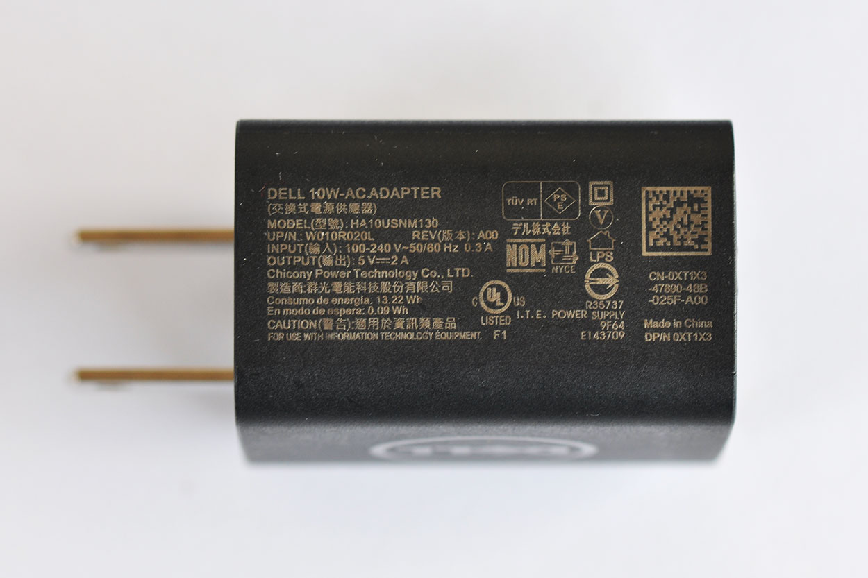 新到货10W Dell 0X6WRH HA10USNM130 Power Supply Adapter Charger  戴尔原装 Venue 7 8平板 USB电源 充电器10W 5V 2A充电头
