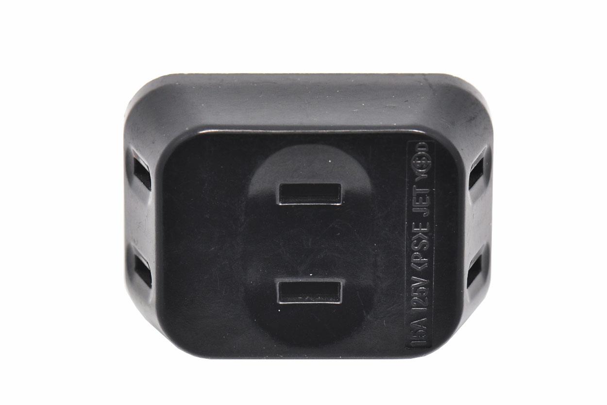 新到货700个JET迷你旅行一分三日标美标二插便携电源插座电工插座1两孔转3两孔